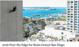 OVER THE EDGE FOR BRAIN CANCER