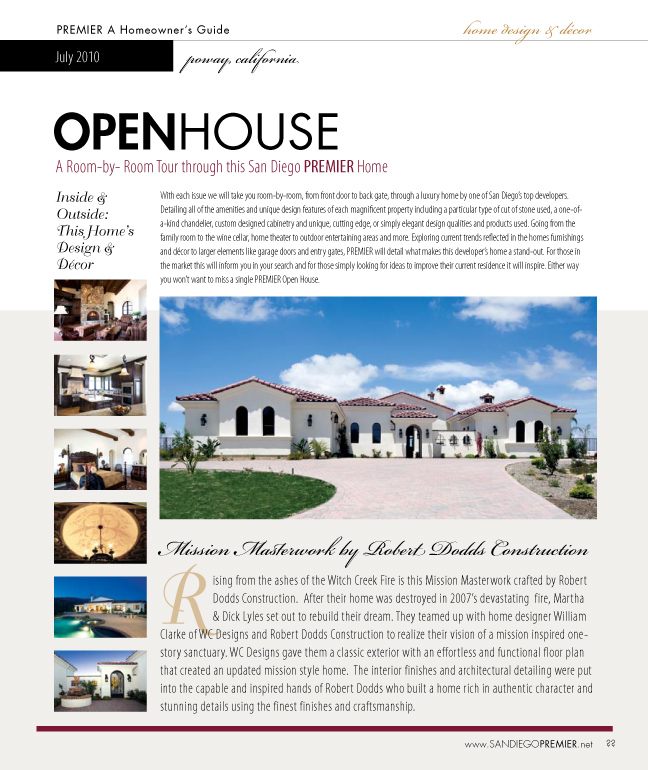 Open House. Home Design 2pg Spread
