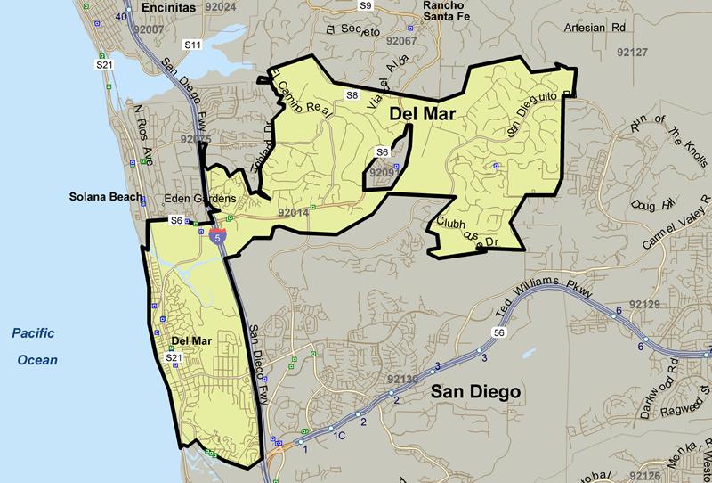 North County Coastal Map San Diego Premier