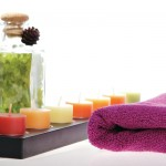 Salts Candles and Towel