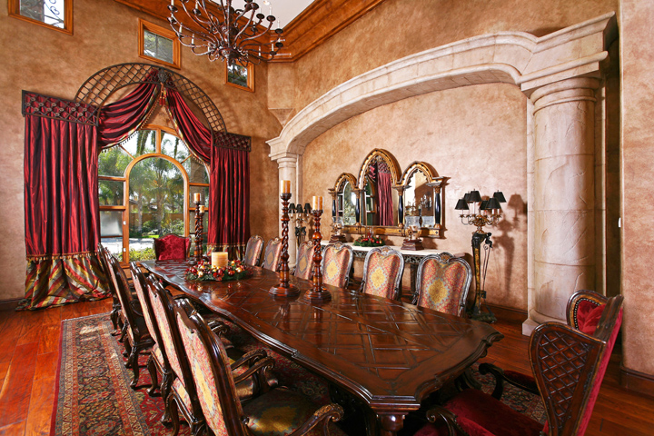 Open house premier tour january san diego premier for Old world dining room ideas