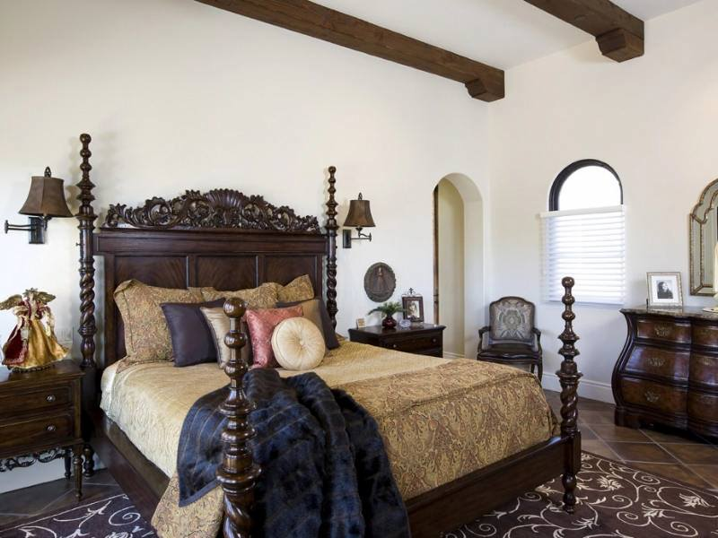 Open house robert dodds construction mission masterwork for Spanish style bedroom