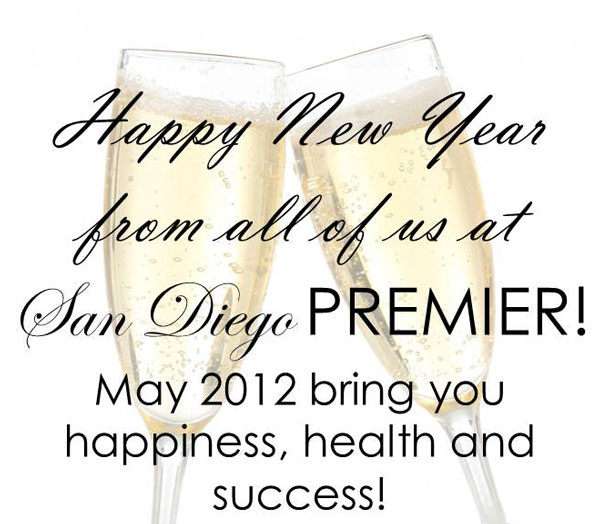 Happy New Year from all of us at PREMIER | San Diego Premier