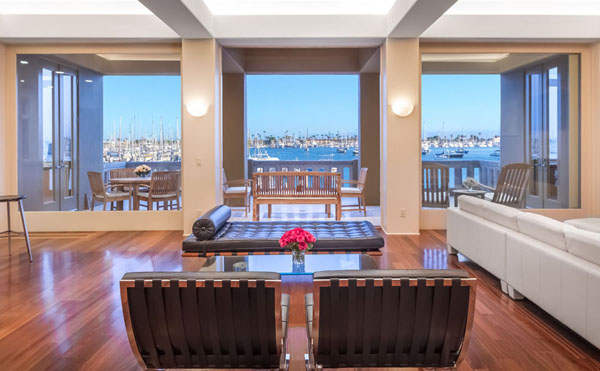 Point Loma waterfront estate with private dock