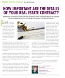How important are the details of your Real Estate Contract?