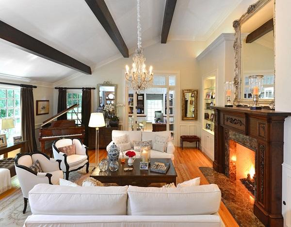 Rose Hill Estate Living Room, Rancho Sante Fe Designer Living Room
